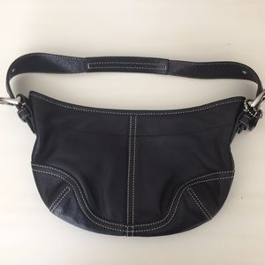 Coach small leather hobo bag